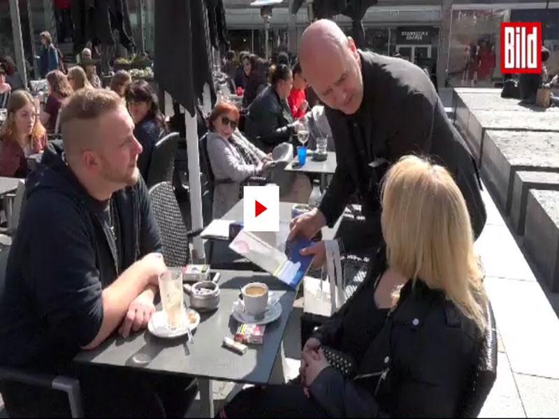 Giovanni Alecci mit der BILD-Zeitung und der Wiesbadener Polizei unterwegs